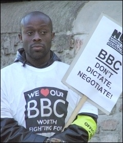 Cardiff BBC strikers, photo by Socialist Party Wales