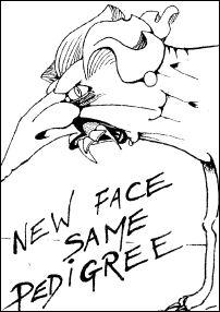New face, same pedigree, Cartoon by Alan Hardman, photo Alan Hardman