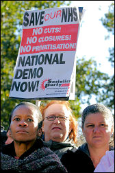 Calling for a national demonstration in 2006, photo Paul Mattsson