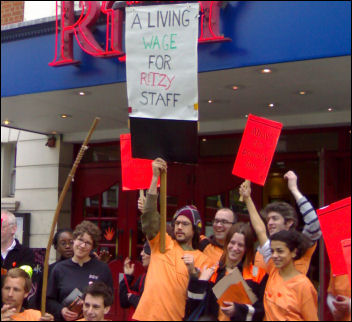 On the picket line at the Ritzy