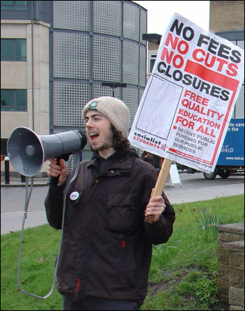 Huddersfield Campaign to defeat fees, photo Ian Slattery