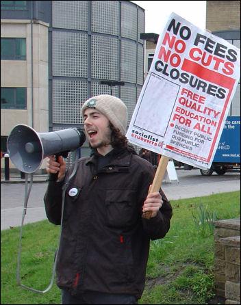 Huddersfield Campaign to defeat fees, photo Ian Slattery