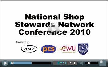 National Shop Stewards Network conference 2010