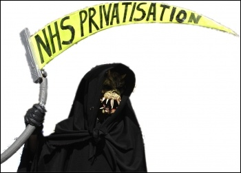 Death and privatisation in the NHS, photo Paul Mattsson