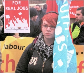 Youth Fight for Jobs demonstration in Barking, photo Paul Mattsson