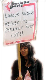 Coventry Against the Cuts demands that the Labour Party refuses to implement the cuts, photo by Coventry Socialist Party