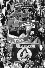 The campaign built by Liverpool city council in 1983-87 to win extra funding inspired thousands of workers, photo Dave Sinclair