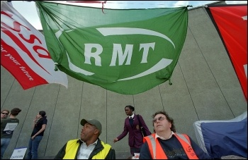 London Underground workers RMT members, on strike , photo Paul Mattsson