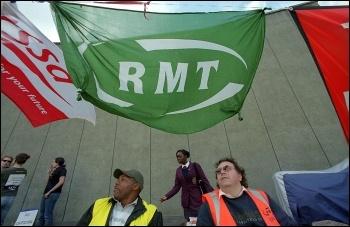 London Underground workers RMT members, on strike , photo Paul Mattsson