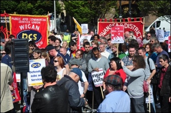 National Shop Stewards Network (NSSN) lobby of TUC conference in Manchester 2010, photo Suleyman Civi