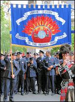 London Firebrigades Union demonstration, photo Suzanne Beishon