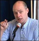 Steve Hedley, London Regional Organiser, RMT, photo by Socialist Party