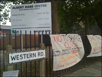 Campaign launched to save the Albert Dane Centre and the Links Project at Southall Baptist church hall in Ealing, photo Ealing Socialist Party
