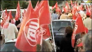 Public sector workers march in Madrid