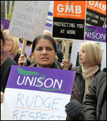 Birmingham Council workers on strike, 24 April 2008, photo by S. O Neill