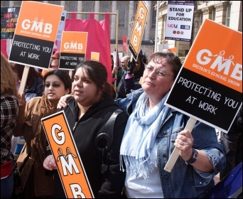 GMB workers on strike, photo S O'Neill