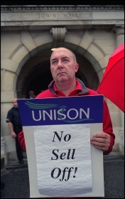Council workers protest, photo Paul Mattsson