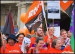 Barnet council workers protest at plans to cut services and run a 'no frills' council, photo Suzanne Beishon
