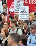 NSSN  lobby of TUC, Manchester 2010, photo Suleyman Civi