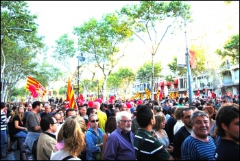 Ten million took part in a general strike in Spain 29 September 2010 that shook Spanish capitalism, photo Sarah Wrack