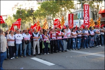 Ten million took part in a general strike in Spain 29 September 2010 that shook Spanish capitalism , photo Sarah Wrack