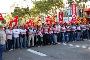 Ten million took part in a general strike in Spain 29 September 2010 that shook Spanish capitalism , photo Sarah Wrack