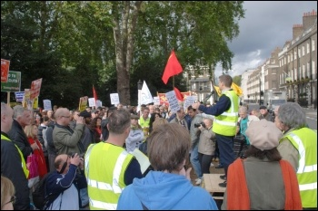 Martin Powell Davies, NUT executive, speaking to the London anti-cuts demonstration and rally