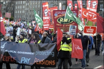 Anti-cuts demonstration in Edinburgh, photo Ray Smith