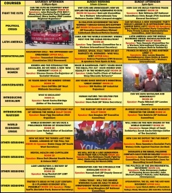 Socialism 2010 Programme of Sessions