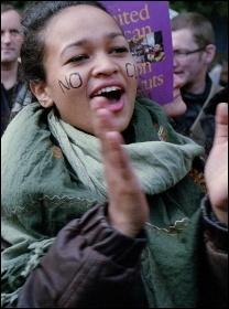 Anti-cuts protest, photo Paul Mattsson