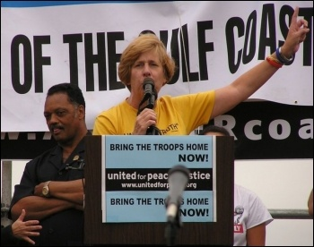 Cindy Sheehan, US anti-war activist, spoke at Socialism 2010