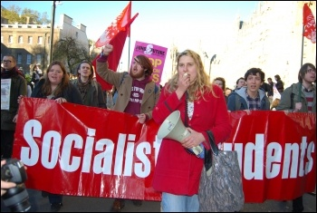 NUS student and UCU demonstration against cuts and tuition fees, photo Sarah Wrack