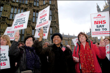 Demonstration against cuts in the NHS, 1 November 2006, photo Paul Mattsson