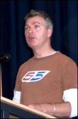 Glen Kelly, Unison Executive, speaks at National Shop Stewards Network conference July 2007, photo Dave Carr