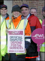 Postal workers on strike