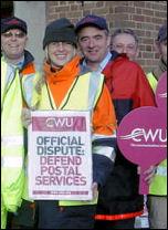 Postal workers on strike