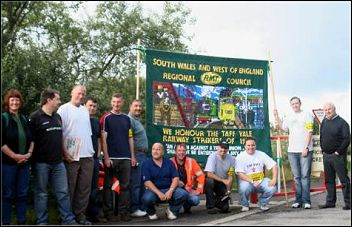 RMT strike in Wales, photo SPW