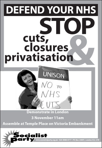 Socialist Party NHS leaflet