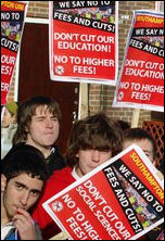 Southampton Protest against Education Cuts: school students walk out, photo Spiky Rob