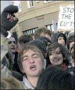 Newcastle students protest, photo by Ray Smith