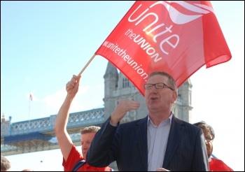 Len McCluskey, Unite's general secretary, photo Suzanne Beishon