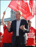 Len McCluskey, Unite's general secretary, photo Suzanne Beishon