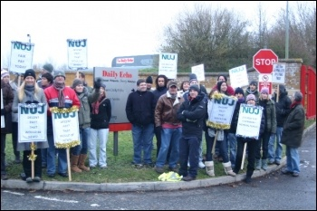 Southampton journalists on strike, photo Nick Chaffey