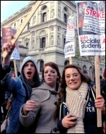 Students protesting against  fees rise, photo Suzanne Beishon