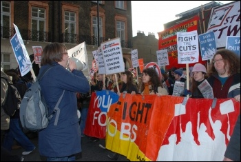 Students protest outside parliament on Day X as tuition fees debated, photo Suzanne Beishon