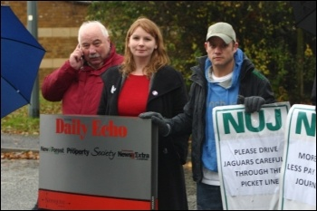 NUJ strike at Newsquest, photo Nick Chaffey