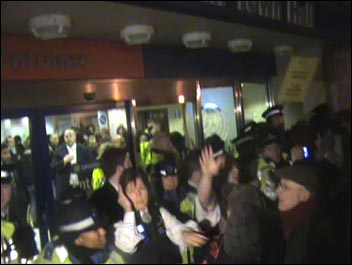 Greenwich protest against council cuts 29 November 2010 - riot police were called