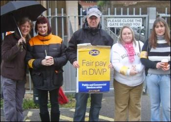 DWP PCS workers on strike, photo The Socialist