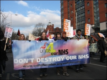 Student demonstration against education cuts, Manchester, photo Andy Ford