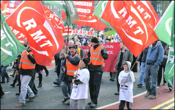 Scottish TUC supported anti-cuts demonstration in Edinburgh, photo Ray Smith